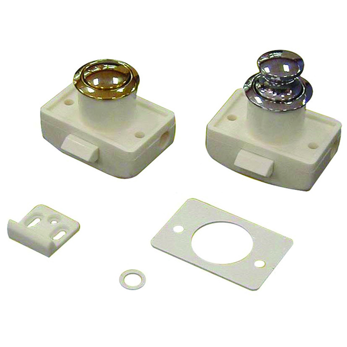 Push Button Cabinet Latch White Water Marine Hardware